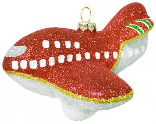 Украшение Новогодняя сказка Самолет, 6 см 1 шт пластик ёлочное украшение новогодняя сказка воздушный шар 12 5 см пластик