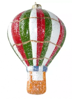 Елочные украшения Новогодняя сказка Воздушный шар 12.5 см 1 шт пластмасса, блестки