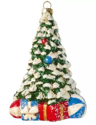 Елочные украшения Новогодняя сказка Новогодняя елочка 12.5 см 1 шт пластмасса, блестки