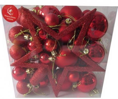 Купить Набор шаров Новогодняя сказка 973653 50 шт, Атрибуты для праздника