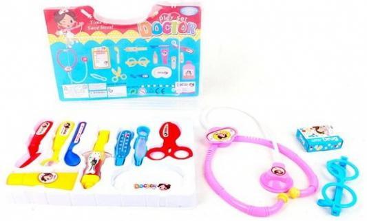 Купить Игровой набор Наша Игрушка Чемоданчик доктора 12 предметов, для девочки, Игровые наборы Доктор