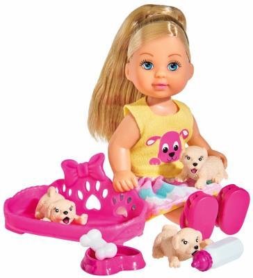 Купить Кукла SIMBA Еви с собачками 12 см, пластик, текстиль, Классические куклы и пупсы