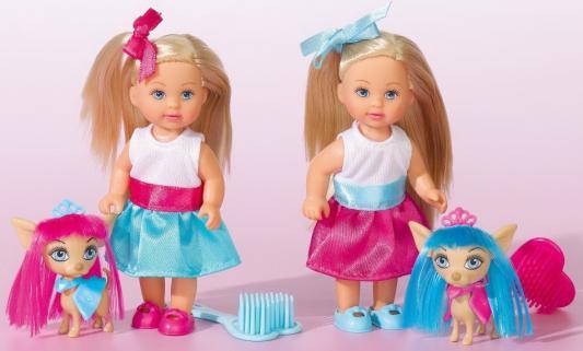 Купить Кукла SIMBA Еви со стильной собачкой 12 см, пластик, текстиль, Классические куклы и пупсы