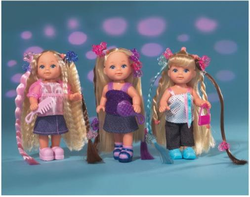 Кукла SIMBA Еви супер-волосы 12 см надувной ролл simba