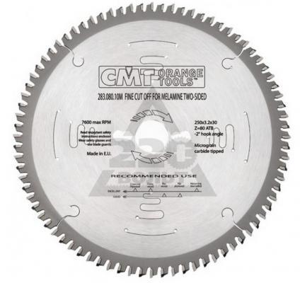 Круг пильный твердосплавный CMT 296.190.64M 190X30X2.8/2.2 -6° TCG Z=64 фреза cmt 938 254 11