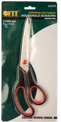 Ножницы FIT 67379 бытовые нержавеющие лезвие толщ. 2мм пластик. ручка 245мм ножницы fit 67372