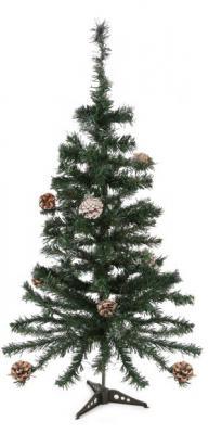 Ель Новогодняя сказка 973322 с шишками зеленый 90 см