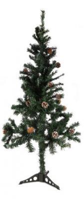 Ель Новогодняя сказка 973325 с шишками зеленый 180 см ель новогодняя сказка декоративная елочка с шишками зеленый 30 5 см