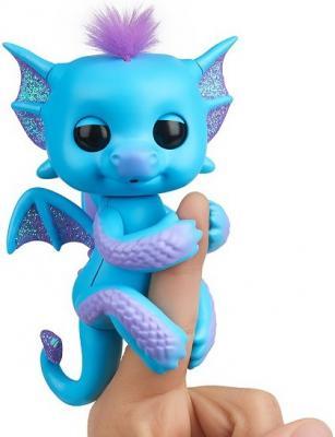 Купить Интерактивная игрушка Fingerlings Дракон Тара от 5 лет голубой, 12 см, пластик, унисекс, Интерактивные животные и роботы