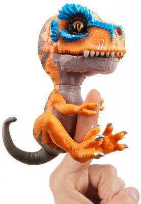 Купить Интерактивная игрушка Fingerlings Динозавр Скретч от 5 лет оранжевый, серый, 12 см, пластик, металл, текстиль, резина., для мальчика, Интерактивные животные и роботы
