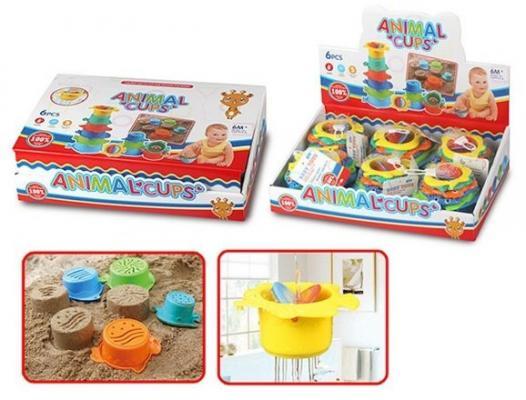 Интерактивная игрушка Наша Игрушка Набор формочек-леек для купания от 6 месяцев интерактивная игрушка наша игрушка телефончик е нотка от 18 месяцев цвет в ассортименте 60081