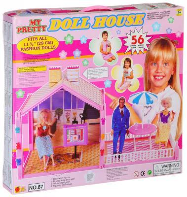 Домик для кукол Наша Игрушка Doll House furniture diy doll house wooden miniature doll houses furniture kit puzzle handmade dollhouse craft toys for christmas gift