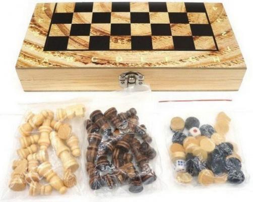 НИ 2 в 1 Шахматы, нарды шахматы нарды резные haleyan бриз 50