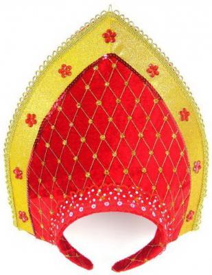 Купить Ободок Новогодняя сказка Кокошник 23х30 см, Карнавальные костюмы