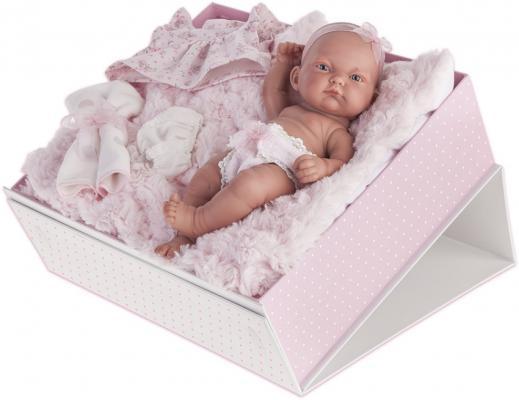 Кукла-младенец Карла в чемодане роз. 26см кукла munecas antonio juan белла в шляпке блондинка 45 см 2808p