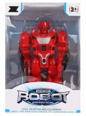 Робот на батарейках Наша Игрушка Робот 18 см двигающийся со звуком светящийся боевой робот shantou gepai воин галактики 30 см двигающийся со звуком светящийся 6007
