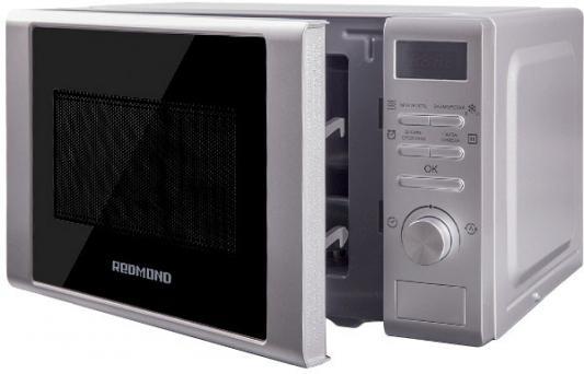 Микроволновая печь Redmond RM-2002D 700 Вт серебристый микроволновая печь lg mb 40r42ds 700 вт серебристый