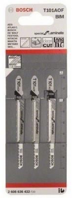 Bosch 2608636432 3 ЛОБЗИКОВЫЕ ПИЛКИ T 101 AOF, BIM bosch t 101 bf bim