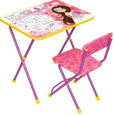 Купить Комплект стол+стул Ника Познайка 2 Маленькая принцесса, НИКА, 750х155х610 см, Игровые комплекты мебели