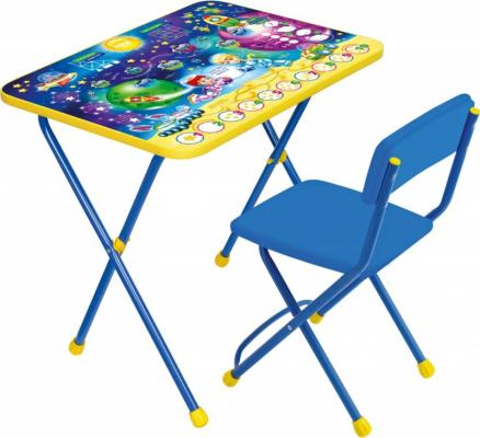 Купить Комплект стол+стул Ника Познайка 2 Математика в космосе, НИКА, 750х155х610 см, Игровые комплекты мебели