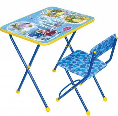 Купить Комплект стол+стул Ника Познайка 2 Волшебный мир принцесс, НИКА, 750х155х610 см, Игровые комплекты мебели