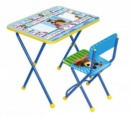 Комплект стол+стул Ника Познайка 2 Азбука 2 Маша и Медведь ника 0438 2 9 51