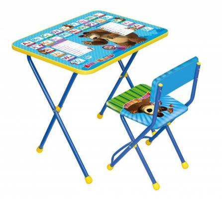 Комплект стол+стул Ника Познайка 2 Английская азбука Маша и Медведь столы и стулья ника набор мебели маша и медведь стол парта мягкий стул
