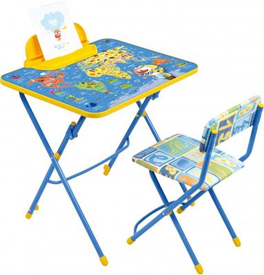 Купить Комплект стол+стул Ника Умничка 3 Познаю мир, НИКА, 750х155х610 мм, Игровые комплекты мебели