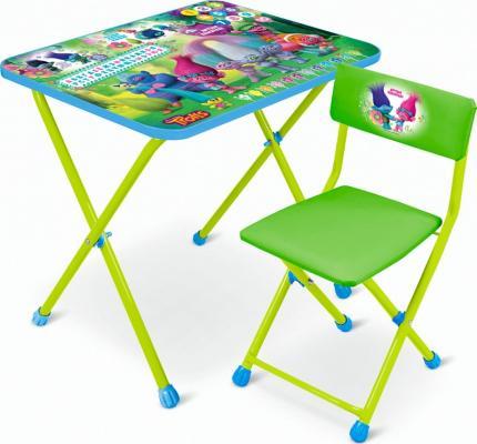 Купить Стол-стул НИКА Trolls Стол-Стул Тролли , зеленый КHT-0822T-2, Игровые комплекты мебели