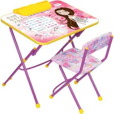 Комплект стол+стул Ника Умничка 3 Маленькая принцесса набор мебели ника маленькая принцесса су 1 4