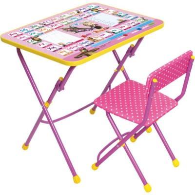 Комплект стол+стул Ника Умничка 1 Азбука 3 Маша и Медведь цена