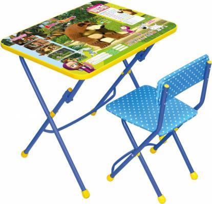 Комплект стол+стул Ника Умничка 1 Позвони мне Маша и Медведь ника 1041 0 1 61 ника