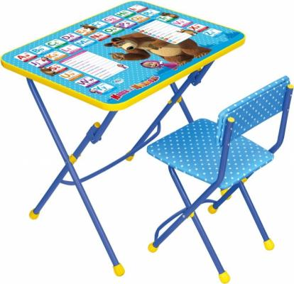 Комплект стол+стул Ника Умничка 1 Английская азбука Маша и Медведь цены