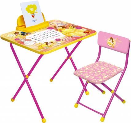 Комплект стол+стул Ника Disney 4 Белль стол складной ника водостойкий пластик 100x50 cм