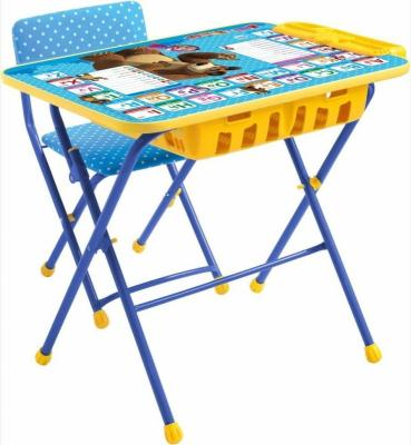 Комплект стол+стул Ника Умничка 2П Английская азбука Маша и Медведь