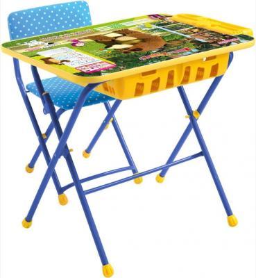 Комплект стол+стул Ника Умничка 2П Позвони мне Маша и Медведь детский столик nika маша и медведь ку1 6 позвони мне