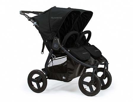 Купить Коляска прогулочная для двоих детей Bumbleride Indie Twin (matte black), черный, Коляски для двоих детей