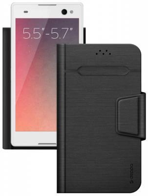 """все цены на Чехол Deppa подставка для планшетов и электронных книг Wallet Fold L 5.5""""-5.7'', черный, Deppa"""