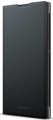 Чехол Sony Оригинальный чехол STAND COVER (чехол-подставка) для Xperia XA2 Plus Цвет: черный чехол sony touch cover white для xperia xz