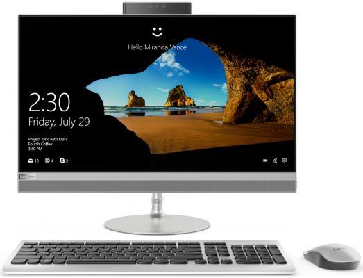 Моноблок Lenovo IdeaCentre 520-24IKU 23.8 Full HD i3 7020U (2.3)/4Gb/1Tb 7.2k/530 2Gb/DVDRW/Windows 10/GbitEth/WiFi/BT/клавиатура/мышь/Cam/серебристый 1920x1080