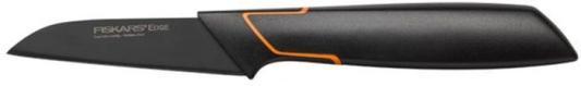 Нож кухонный Fiskars 1003091 стальной для чистки овощей и фруктов черный