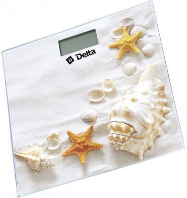 Весы напольные DELTA D-9226 Ракушки рисунок delta d 9226 ракушки весы напольные