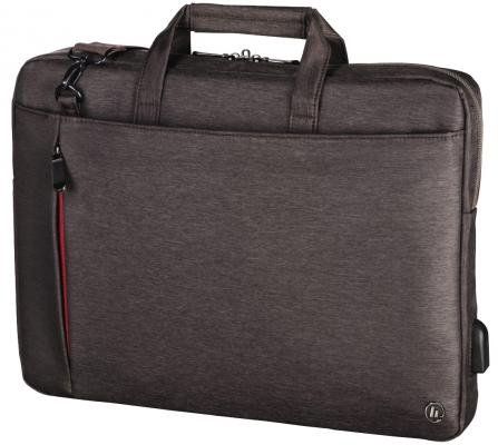 """Сумка для ноутбука 13.3"""" HAMA Manchester полиэстер коричневый 00101869 цена и фото"""