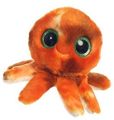 Мягкая игрушка осьминог Aurora Юху и друзья текстиль пластик коричневый 12 см цены