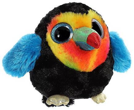 Мягкая игрушка тукан Aurora Юху и друзья пластик текстиль 12 см цены