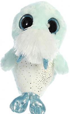 Мягкая игрушка морж Aurora Юху и друзья текстиль плюш белый голубой 12 см цены