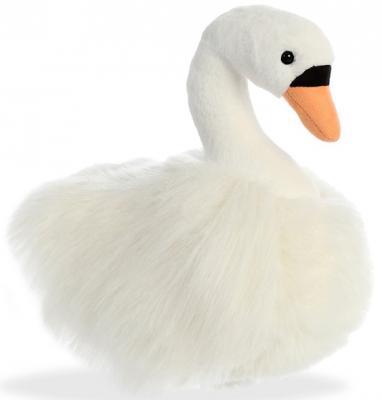Мягкая игрушка лебедь Aurora текстиль пластик наполнитель плюш белый 25 см мягкая игрушка овечка aurora 18 см белый фиолетовый текстиль наполнитель