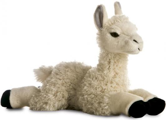 Мягкая игрушка лама Aurora текстиль пластик наполнитель плюш белый 30 см мягкая игрушка овечка aurora 18 см белый фиолетовый текстиль наполнитель