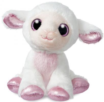 Мягкая игрушка овечка Aurora текстиль наполнитель белый фиолетовый 18 см мягкая игрушка sima land овечка на присосках 18 см 332770