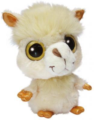 Мягкая игрушка Альпака Aurora Юху и друзья пластик плюш синтепон бежевый 12 см цены
